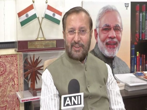 Human Resource Development (HRD) minister Prakash Javadekar speaking to ANI in Bhiwani on Monday. Photo/ANI