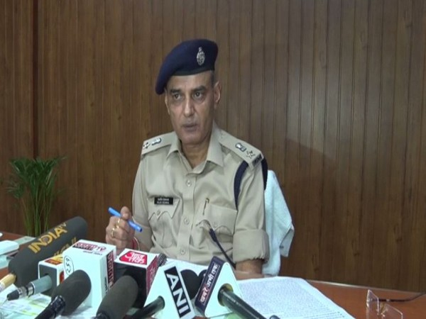 Deputy Commissioner of Police (DCP) (Crime), Gurugram, Rajeev Deswal while speaking to the reporters. (Photo/ANI)