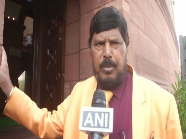 Union Minister and Republican Party of India (A) chief Ramdas Athawale while speaking to ANI on Monday. Photo/ANI