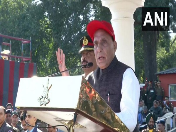 Union Defence Minister Rajnath Singh while speaking at at the passing out parade of Indian Military Academy (IMA) in Dehradun (PhotoANI)