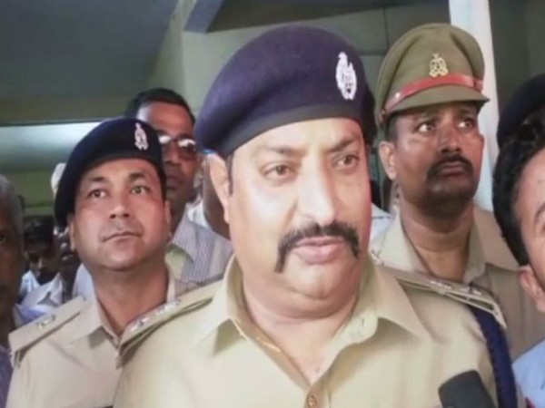 Sunil Kumar Singh, Senior Superintendent of Police (SSP), Etah while speaking to reporters on Saturday. Photo/ANI