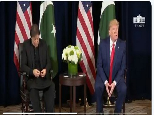 Pakistan Prime Minister Imran Khan and US President Donald Trump during a joint press conference in New York