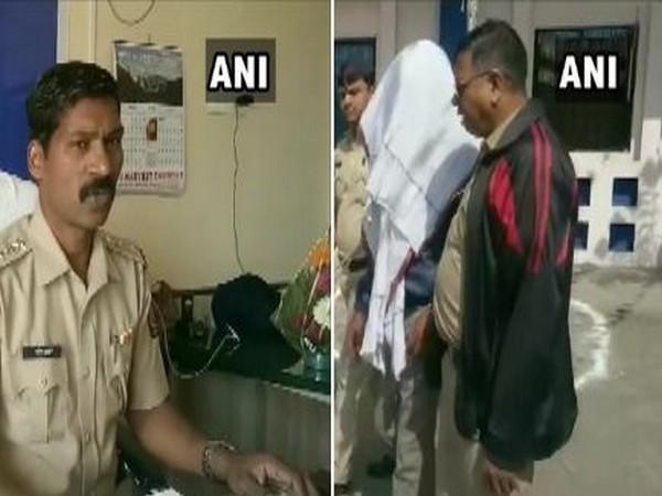 Sunil Chavan, Inspector at Pardi police station (l) and rape accused (r). (Photo/ANI)