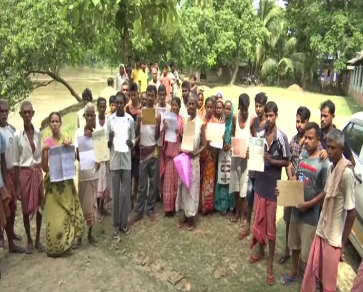 Villagers of Assam's Malaibari claim that as many as 1,500 Hindu-Bengali locals have been excluded from the final NRC list. (Photo/ANI)