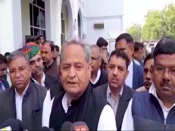 Rajasthan Chief Minister Ashok Gehlot while speaking to the reporters in Jodhpur on Friday (Photo/ANI)