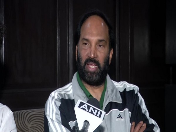 Telangana Congress leader Uttar Kumar Reddy in conversation with ANI. (Photo/ANI)