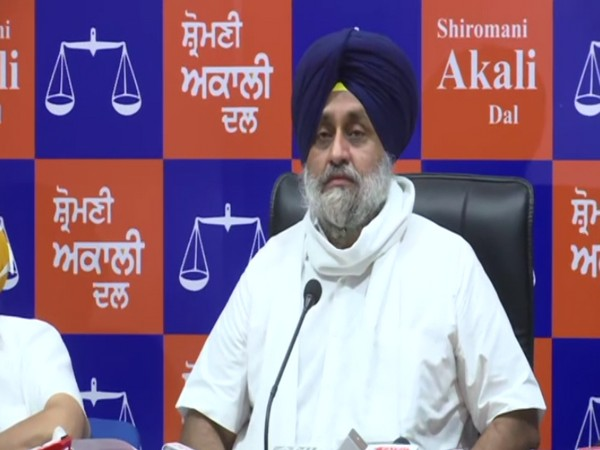 Shiromani Akali Dal chief Sukhbir Singh Badal (Photo/ANI)