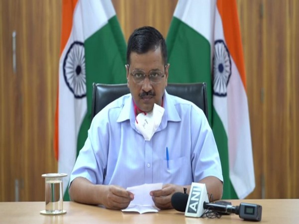 Delhi Chief Minister Arvind Kejriwal while briefing the media on Monday. (Photo/ANI)