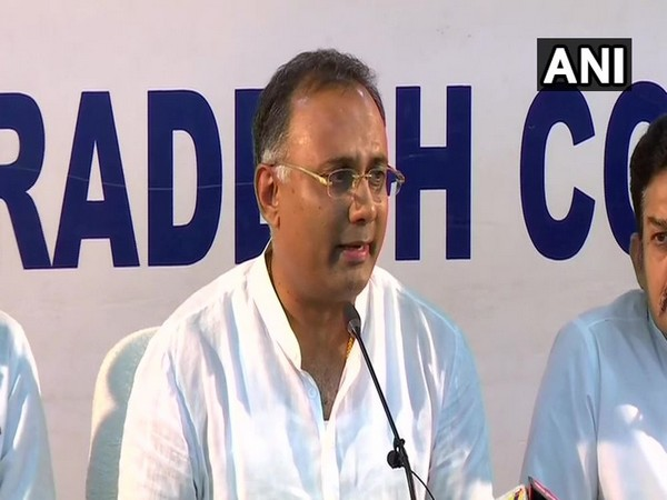 Dinesh Gundu Rao while speaking to the reporters on Monday in Bengaluru (Photo/ANI)