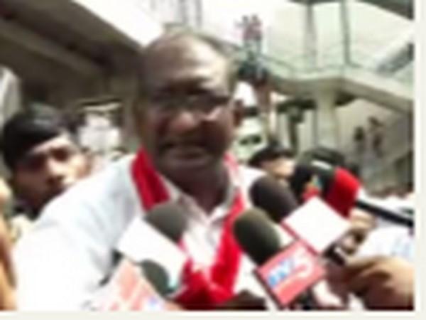 CPI-ML leader Ranga Rao speaking to reporters in Hyderabad on Saturday. Photo/ANI