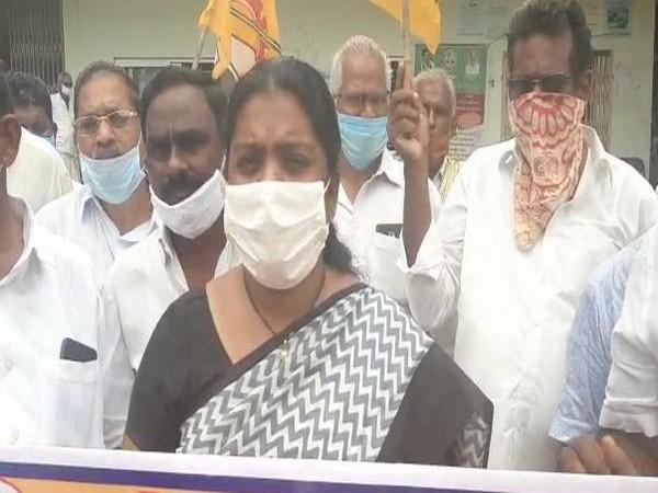 Telugu Desam Party (TDP) leader and former MLA Tangirala Saumya (Photo/ANI)