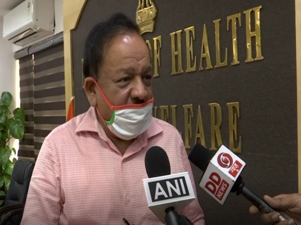 Union Health Minister Dr. Harsh Vardhan speakind to the reporters on Monday (Photo/ANI)