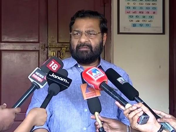 Kadakampally Surendran  while speaking to the reporters in Trivandrum on Wednesday (Photo/ANI)