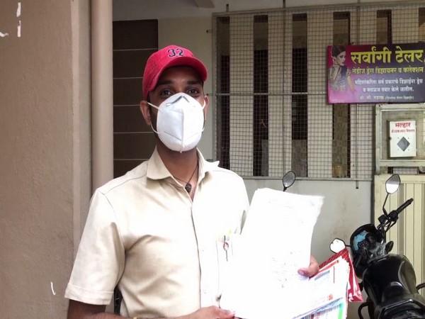Sandesh Bagul, postman (Photo/ANI)