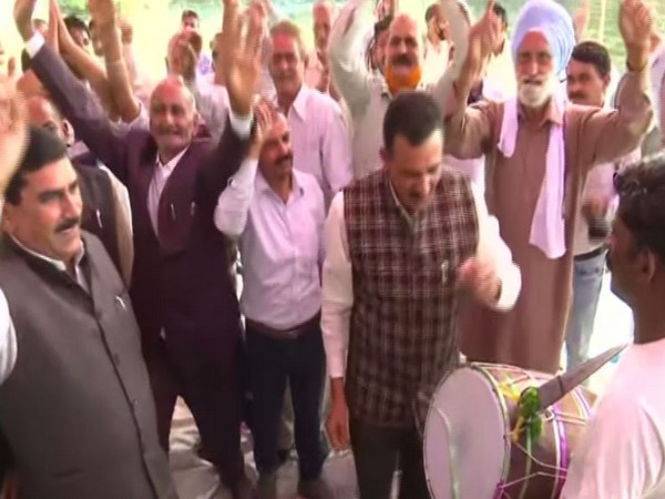 West Pakistani refugees danced to the tunes of drums in Samba (Photo/ANI)
