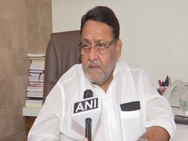 NCP leader Nawab Malik while speaking to ANI on Tuesday (Photo/ANI)