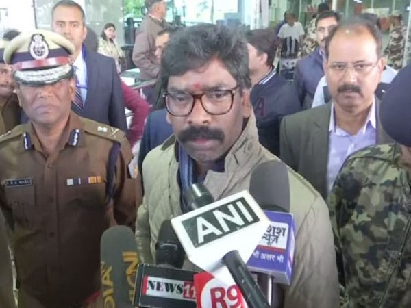 Jharkhand Chief Minister Hemant Soren while speaking to the reporters on Thursday (Photo/ANI)