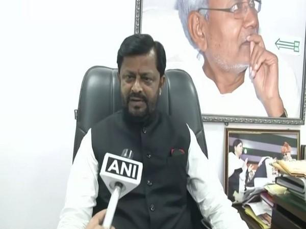 Janata Dal (United) leader Sanjay Singh speaking to ANI on Wednesday. (Photo/ANI)
