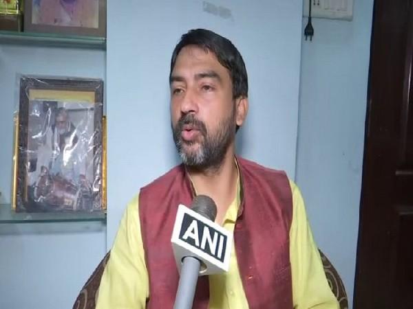 Son of Union minister Ariji Shashwat speaking to ANI on Tuesday. Photo/ANI