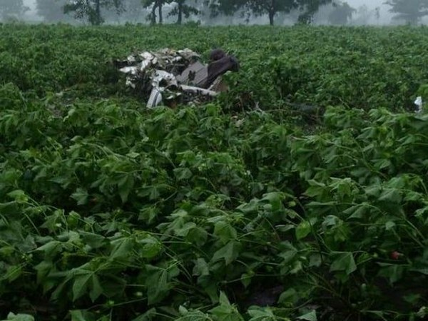 Visual from the crash site in Telangana. Photo/ANI