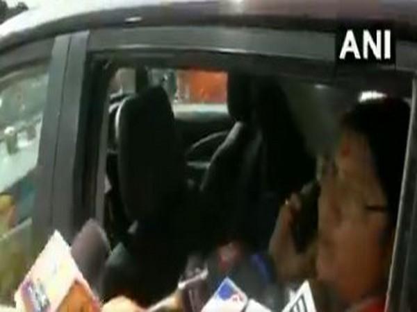 BJP MP Locket Chatterjee speaking to EC official over phone