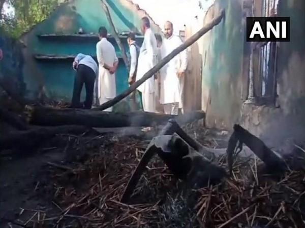 Houses of Manyari village in Hiranagar sector of Kathua district damaged, following shelling by Pakistan (Photo/ANI)