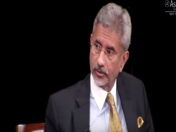External Affairs Minister S Jaishankar during an interview with Asia Society Policy Institute President Kevin Rudd on Tuesday
