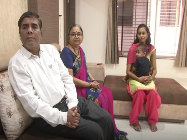 Dilip Muley, Mangala Muley, Dr. Shraddha Muley with her son (Photo/ANI)