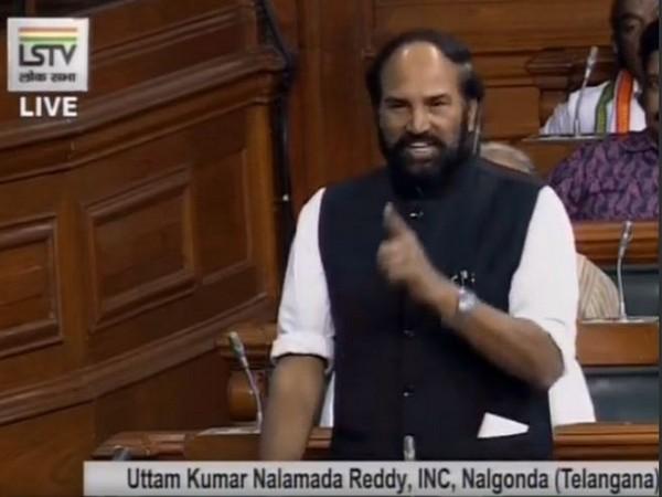 v speaking in Lok Sabha on Monday (Photo/ANI)