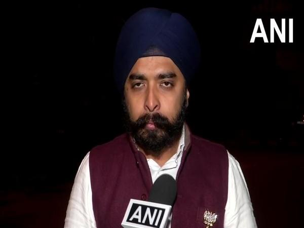 BJP candidate from Hari Nagar constituency, Tajinder Pal Singh Bagga while speaking to ANI on Friday (Photo/ANI)