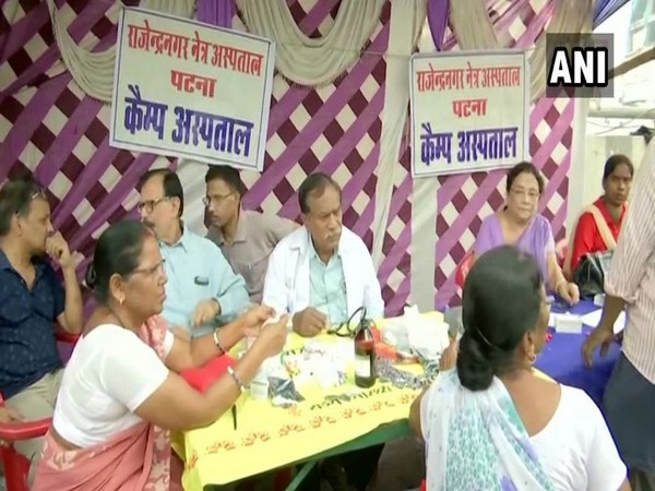 Doctors providing medical services in makeshift camps in Patna, Bihar. (Photo/ANI)