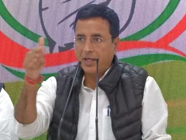 Congress spokesperson Randeep Singh Surjewala addressing a press conference in New Delhi on Wednesday. Photo/ANI