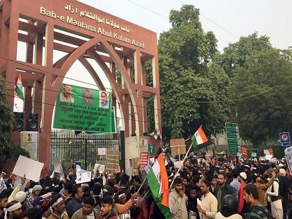 Protest held against CAA and NRC at Jamia Millia Islamia University (File Photo)