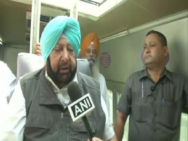 Punjab Chief Minister Captain Amarinder Singh speaking to ANI on Tuesday in Ludhiana. Photo/ANI
