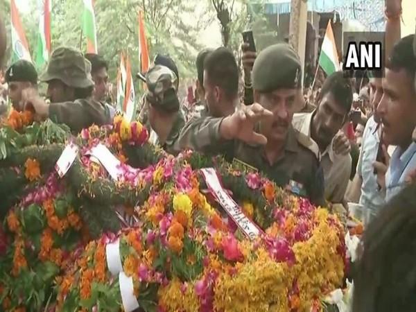 Mortal remains of Sepoy Rambir reached his native village, Mathura in Uttar Pradesh on Saturday ()