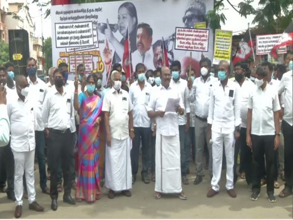 AIADMK protest against DMK state wide