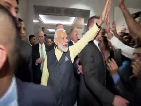 Indian Prime Minister Narendra Modi at hotel in New York
