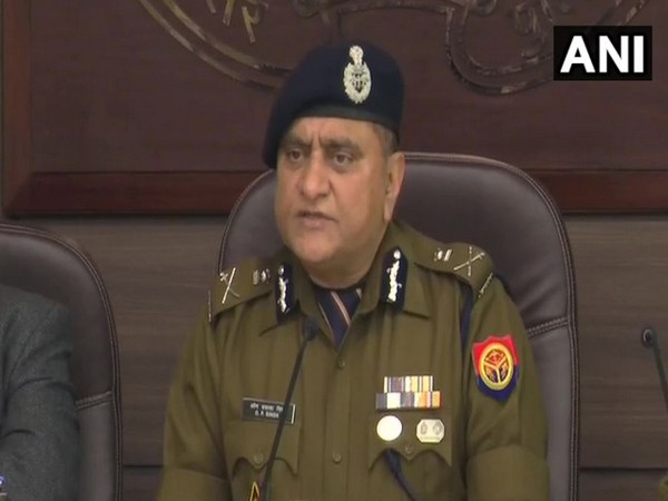 Uttar Pradesh DGP OP Singh while speaking to the reporters on Friday in Lucknow (Photo/ANI)