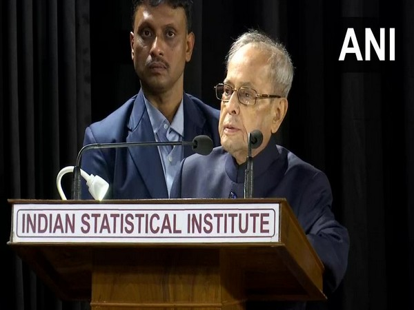 Former President Pranab Mukherjee at the Indian Statistical Institute in Kolkata on Wednesday (Photo/ANI)