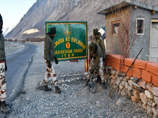 ITBP has started a massive plantation drive in Galwan valley (Photo/ANI)