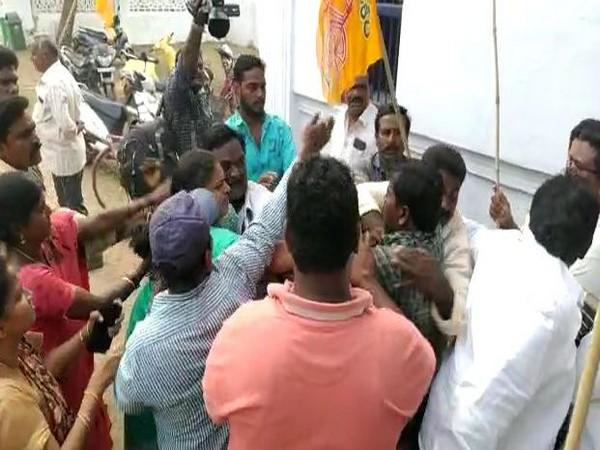 TDP workers thrashed ward volunteers in Krishna district (Photo/ANI)