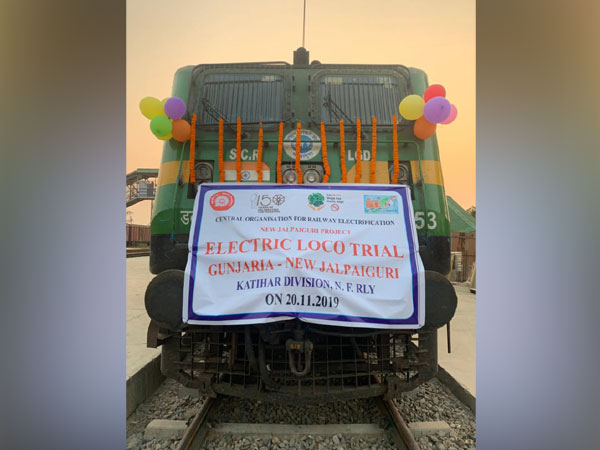 The electric locomotive, which was used in a trail run between Gunjaria and New Jalpaiguri on Wednesday
