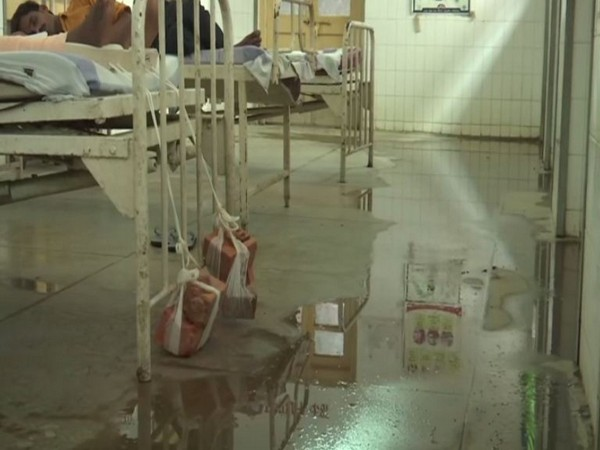 Patients are forced to sleep in unhygienic conditions due to poor sanitation