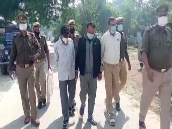 The three arrested persons in Muzaffarnagar on Wednesday. (Photo/ANI)