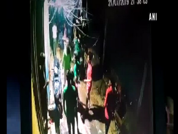 Screen grab from CCTV footage of the incident. Photo/ANI