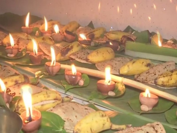 Offerings prepared for Sun god on the occasion of Kharna. Photo/ANI
