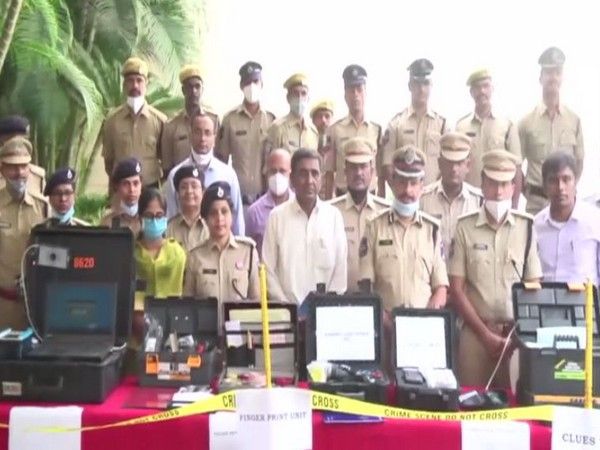 12 clues team, fingerprint unit vehicles along with equipment have been launched in Cyberabad. [Photo/ANI]