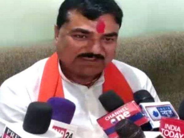 BJP MLA Kamal Patel while talking to media on Friday