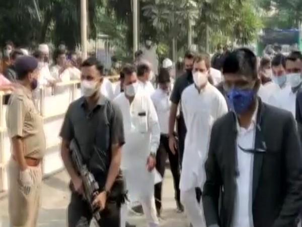 Congress leader Rahul Gandhi reached Bharuch, Gujarat on Thursday. (Photo/ANI)