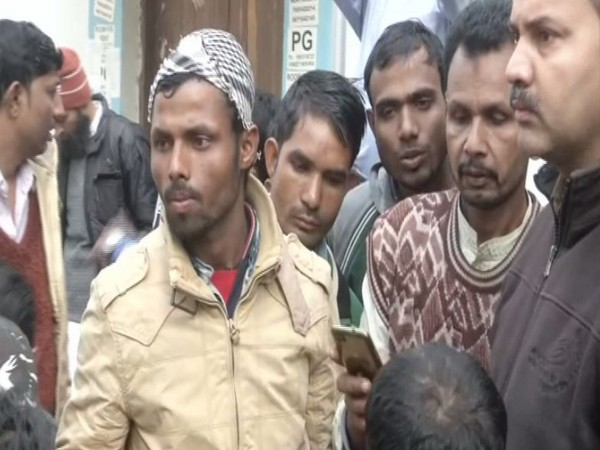 The family members of the deceased of Delhi fire incident, outside the LNJP Hospital on Monday.